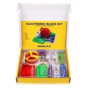 Excelvan Teacher Wang W-39 Snap circuits Electronics Discovery Kit Science Educational Toy 3