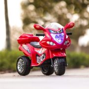 Kids Ride On Motorcycle 6V Toy Battery Powered Electric 3 Wheel Power Bicycle Red 1