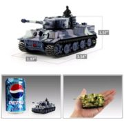 Cheerwing 1:72 Radio Remote Control Mini RC German Tiger I Panzer Tank with Sound, Rotating Turret (Vary Colors) 1