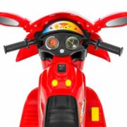 Kids Ride On Motorcycle 6V Toy Battery Powered Electric 3 Wheel Power Bicycle Red 4
