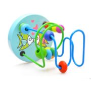 Educational Baby Kids Wooden Around Beads Toy Toddler Infant Intelligence Toys 4