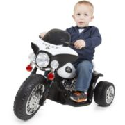 3 Wheel Mini Motorcycle Trike for Kids, Battery Powered Ride on Toy by Rockin' Rollers – Toys for Boys and Girls, 2 – 5 Year Old – Police Car 1