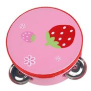 10CM Baby Child Kid Handbell Clap Drum Tambourine Rattles Toy Musical Instrument Exercise Arm 3