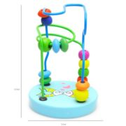 Educational Baby Kids Wooden Around Beads Toy Toddler Infant Intelligence Toys 2