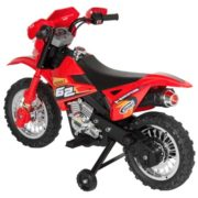 Best Choice Products 6V Electric Kids Ride On Motorcycle Dirt Bike w/ Training Wheels (Red) 3