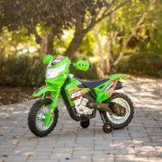 Best Choice Products 6V Electric Kids Ride On Motorcycle Dirt Bike w/ Training Wheels (Green) 1