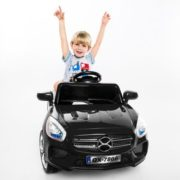 Costway 6V Kids Ride On Car RC Remote Control Battery Powered w/ LED Lights MP3 Black 1