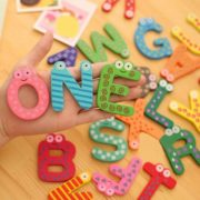 26pcs wooden Alphabet Magnetic Sticker A-Z Magnets Child Educational Toy 2