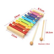 Kids Baby Natural Wooden Piano Educational Xylophone Musical Instrument Glockenspiel Toy Inspire Children's Talent Children Kids Baby Music Educational Toys Gift Hand Knock Piano 4
