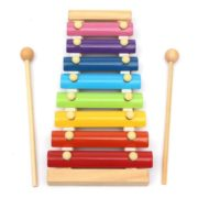 Kids Baby Natural Wooden Piano Educational Xylophone Musical Instrument Glockenspiel Toy Inspire Children's Talent Children Kids Baby Music Educational Toys Gift Hand Knock Piano 1