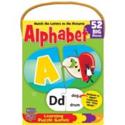MasterPieces Learning Game of Alphabet – 52 Pairing Piece Kids Puzzle 1
