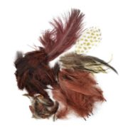 Packed Feather Assortment for Arts and Crafts, 7gm, Chestnut/Natural/Brown, Great for crafting By Touch of Nature 1