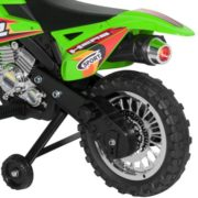 Best Choice Products 6V Electric Kids Ride On Motorcycle Dirt Bike w/ Training Wheels (Green) 5