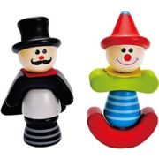 Hape – Early Explorer – Wooden Circus Screwballs Mix and Match Set Stacking Toy 1