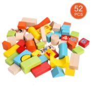 Arshiner Baby 52 PCS Toys,Colorful Wooden Digital Building Learning Block Educational Set Toys 1
