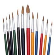 Acrylic Paint Watercolor Oil Painting Wool Brushes Arts Crafts Supplies Set 12PCS 3