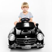 Costway Black MERCEDES BENZ 300SL AMG RC Electric Toy Kids Baby Ride on Car 1