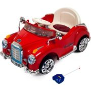 Ride On Toy Car, Battery Powered Classic Car Coupe With Remote Control and Sound by Lil' Rider – Toys for Boys and Girls, 3 Year Olds And Up (Red) 1