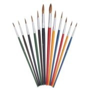 Acrylic Paint Watercolor Oil Painting Wool Brushes Arts Crafts Supplies Set 12PCS 5