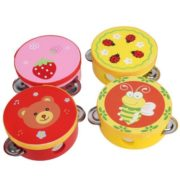 10CM Baby Child Kid Handbell Clap Drum Tambourine Rattles Toy Musical Instrument Exercise Arm 2