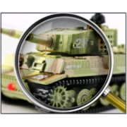Cheerwing 1:72 Radio Remote Control Mini RC German Tiger I Panzer Tank with Sound, Rotating Turret (Vary Colors) 2