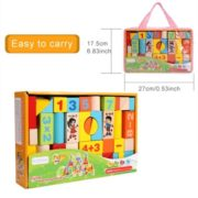 Arshiner Baby 52 PCS Toys,Colorful Wooden Digital Building Learning Block Educational Set Toys 4
