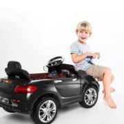 Costway 6V Kids Ride On Car RC Remote Control Battery Powered w/ LED Lights MP3 Black 3