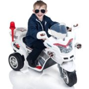 Ride on Toy, 3 Wheel Motorcycle Trike for Kids, Battery Powered Ride On Toy by Lil' Rider – Ride on Toys for Boys and Girls, 2 – 6 Year Old – White 2