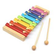 Kids Baby Natural Wooden Piano Educational Xylophone Musical Instrument Glockenspiel Toy Inspire Children's Talent Children Kids Baby Music Educational Toys Gift Hand Knock Piano 2