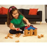 – Lake Union Lodge – 88 Pieces – Ages 3+ – Preschool Educational Toy, 88 ASSORTED PIECES – This building set comes with 88 logs and plastic roof pieces…, By Lincoln Logs 5