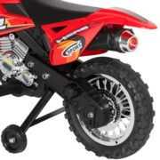 Best Choice Products 6V Electric Kids Ride On Motorcycle Dirt Bike w/ Training Wheels (Red) 4