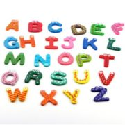 26pcs wooden Alphabet Magnetic Sticker A-Z Magnets Child Educational Toy 3