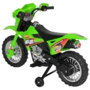 Best Choice Products 6V Electric Kids Ride On Motorcycle Dirt Bike w/ Training Wheels (Green) 4
