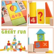 Arshiner Baby 52 PCS Toys,Colorful Wooden Digital Building Learning Block Educational Set Toys 3