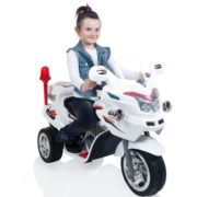 Ride on Toy, 3 Wheel Motorcycle Trike for Kids, Battery Powered Ride On Toy by Lil' Rider – Ride on Toys for Boys and Girls, 2 – 6 Year Old – White 1