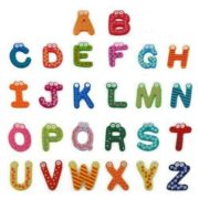 26pcs wooden Alphabet Magnetic Sticker A-Z Magnets Child Educational Toy 5
