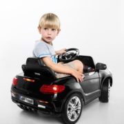 Costway 6V Kids Ride On Car RC Remote Control Battery Powered w/ LED Lights MP3 Black 2