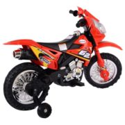 Costway Kids Ride On Motorcycle with Training Wheel 6V Battery Powered Electric Toy 2
