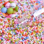 Mini Foam Balls for Slime, Colorful Styrofoam Beads for Arts, DIY Crafts, Kids Homemade Crunchy Slime, Wedding and Party Decorations and Kids Sewing Filling 4 Pack 70000pcs 0.1- 0.14 inch 1